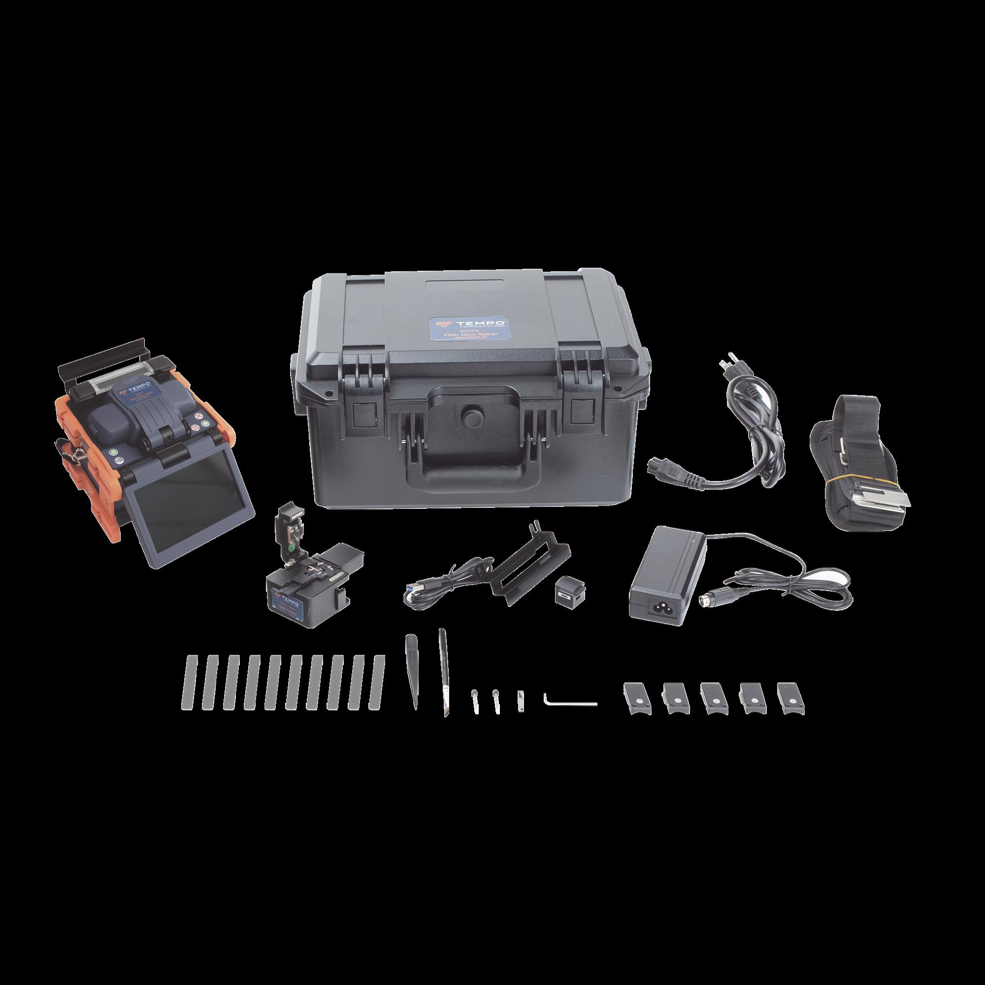 Fusionadora de Fibra óptica de Alineación Activa por Revestimiento / Compensación por Núcleo con 4 Motores