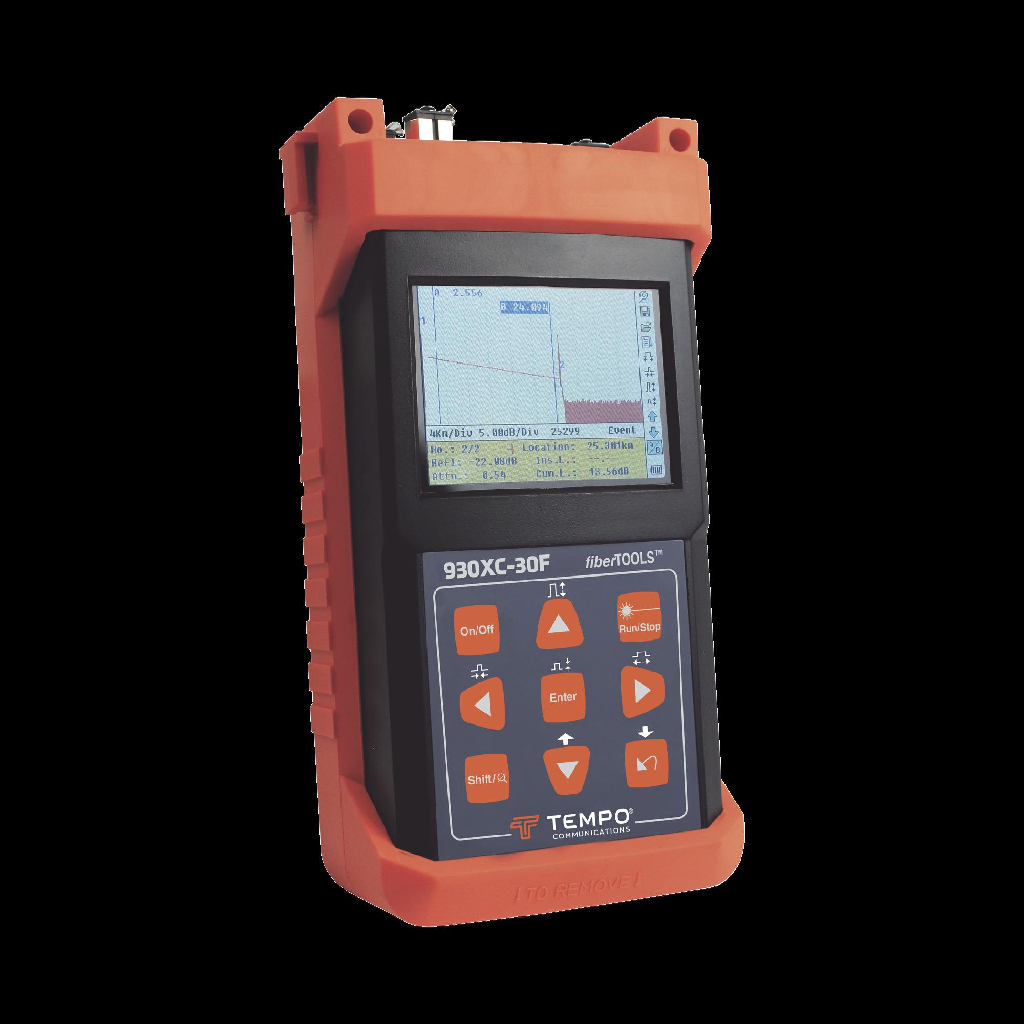 OTDR para pruebas en Enlaces de Fibra óptica, lambdas 1310/1550/1625 nm / Prueba Fibra Viva