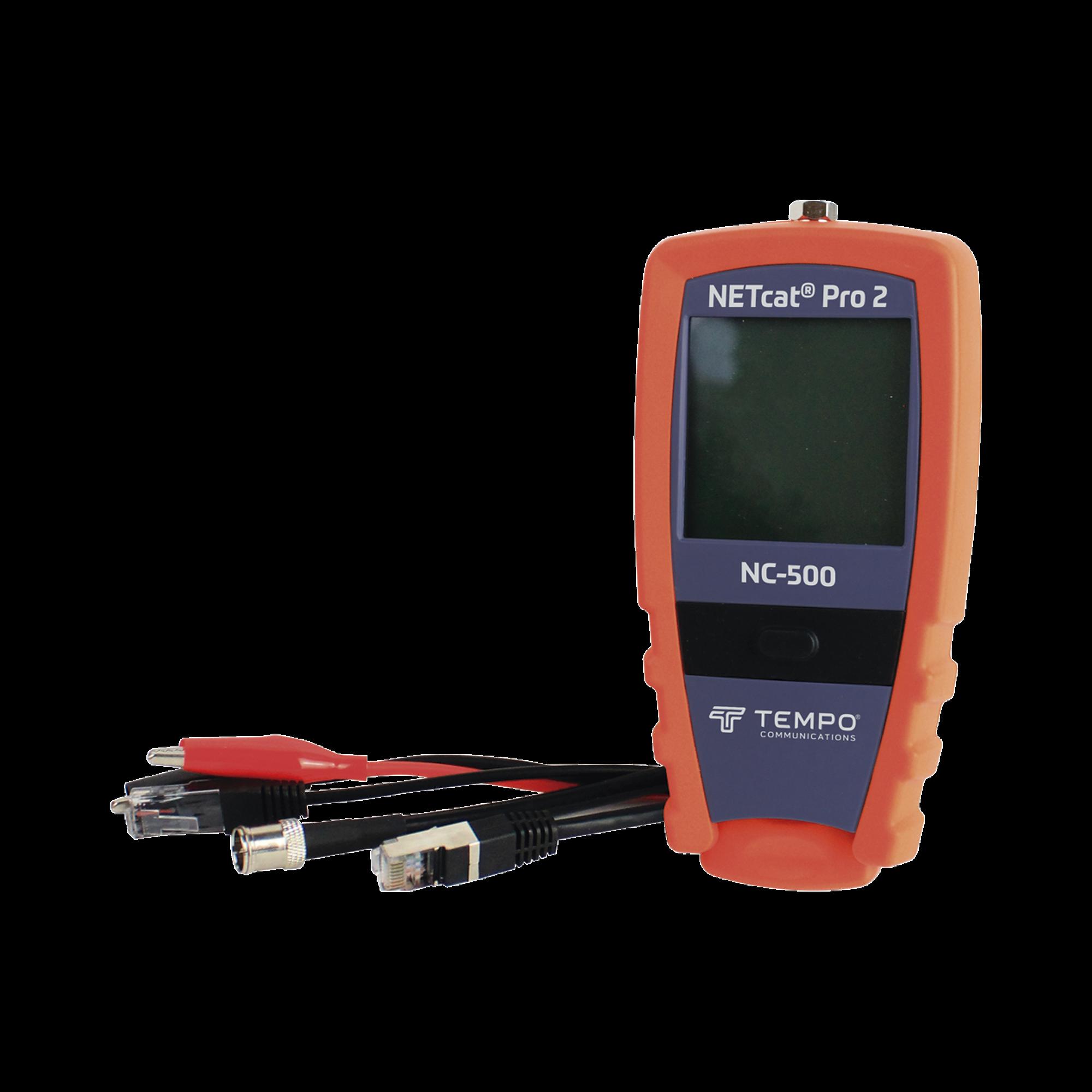 Probador Profesional para cable UTP, STP y Cable Coaxial (NETcat? Pro2) con Pantalla táctil retroiluminada