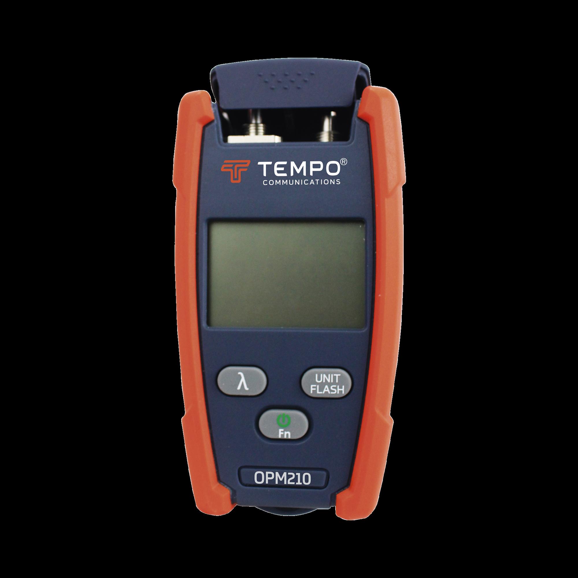 Medidor de Potencia (Micro OPM) para Fibra óptica con Localizador Visual de Fallos (VFL), entrada universal de 2.5 mm (para conectores SC, ST y FC)