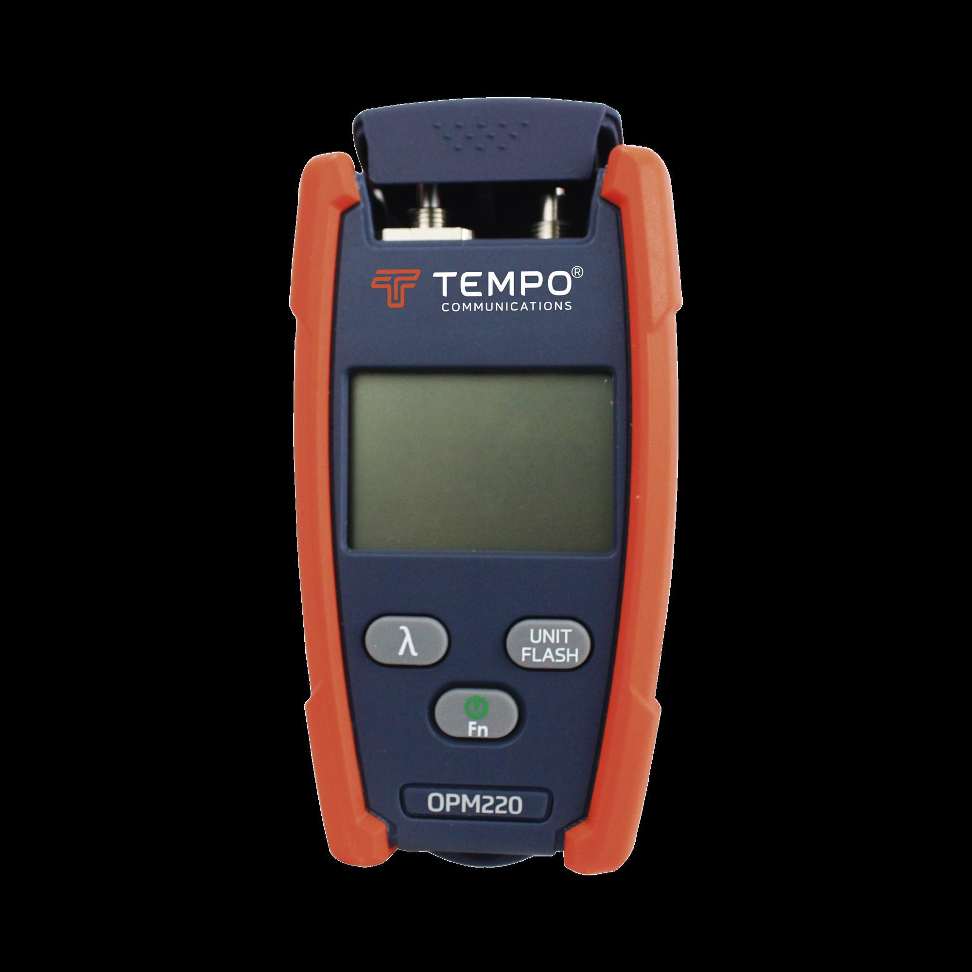 Medidor de Alta Potencia (Micro OPM) para Fibra óptica con Localizador Visual de Fallos (VFL), entrada universal de 2.5 mm (para conectores SC, ST y FC)
