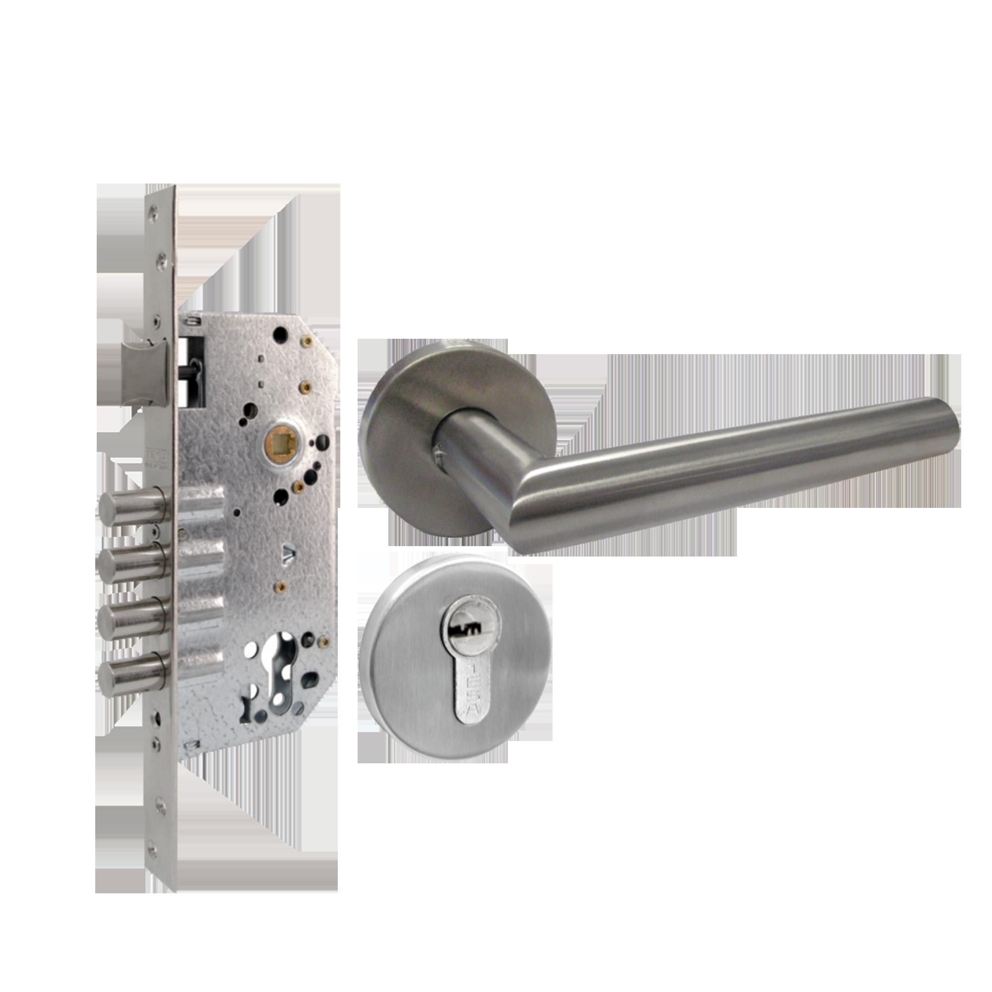 Kit de Manija, mecanismo y cilindro mecánico con Cerrojo de Alta Seguridad