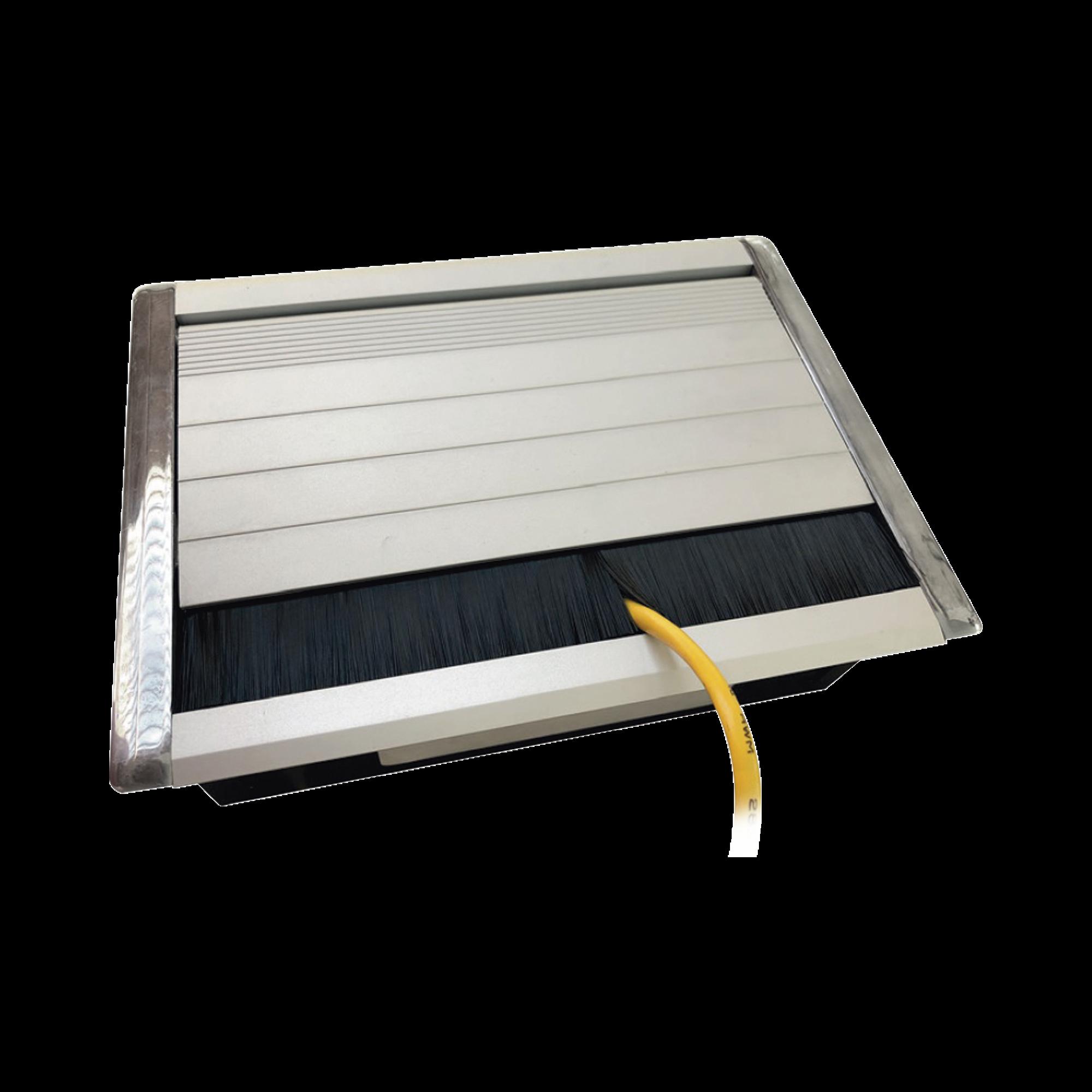 Caja universal vacía de 1 módulo para instalación en escritorio (voz, datos, vídeo, contactos eléctricos), (No incluye accesorios)