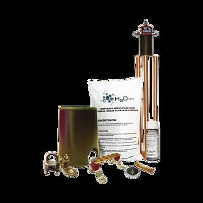 Kit de tierra física modelo TG45AB con Electrodo Magnetoactivo, capacidad: 45 AMP