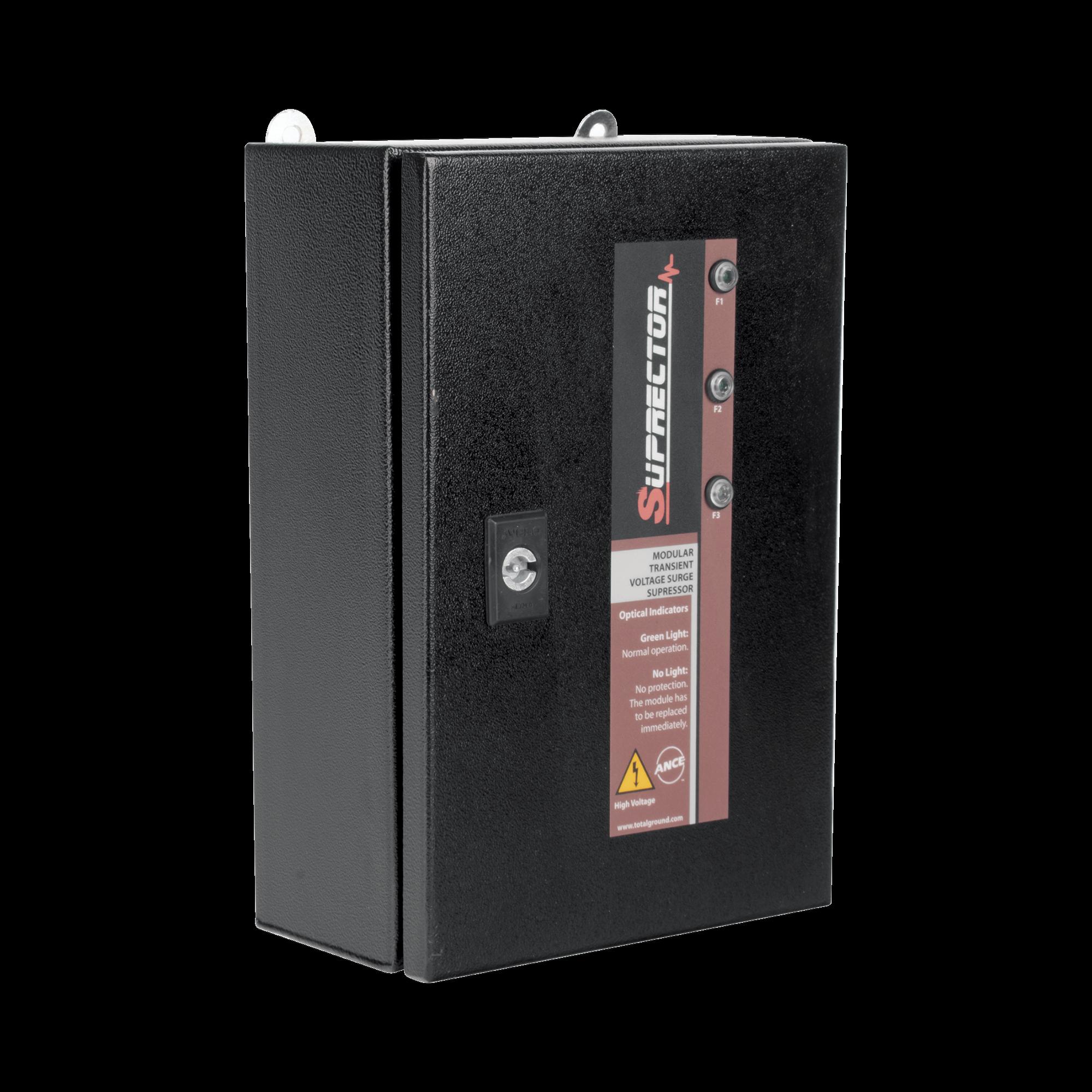 Supresor de Pico Clase C con Voltaje de Operación 220/380 Vca, 1 Fase, 320 KA