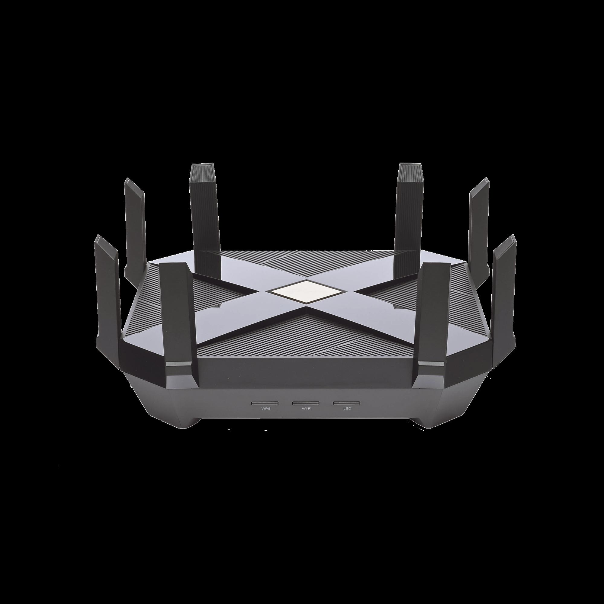 Router de juegos de banda triple AX6000 MU-MIMO 1 puerto WAN 2.5G, 2G, 1G, 100Mbps y 8 puertos LAN 10/100/1000 Mbps, 2 puerto USB 3.0 y 8 antenas.