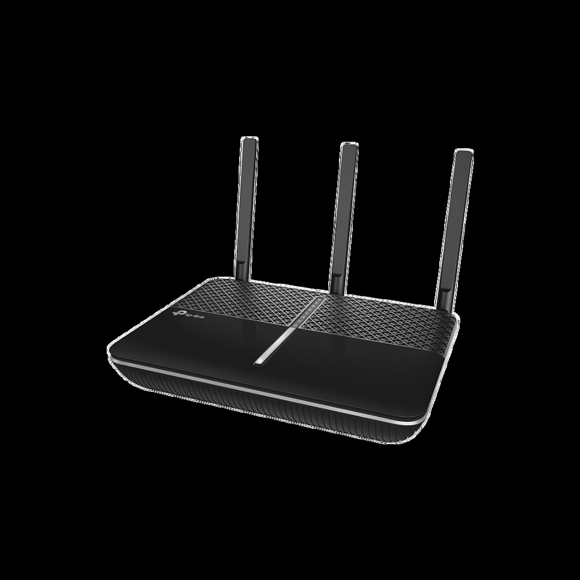 Router inalámbrico AC 2300 doble banda 1 puerto WAN 10/100/1000 Mbps y 4 puertos LAN 10/100/1000 Mbps, 1 puerto USB 3.0 y 1 puerto USB 2.0