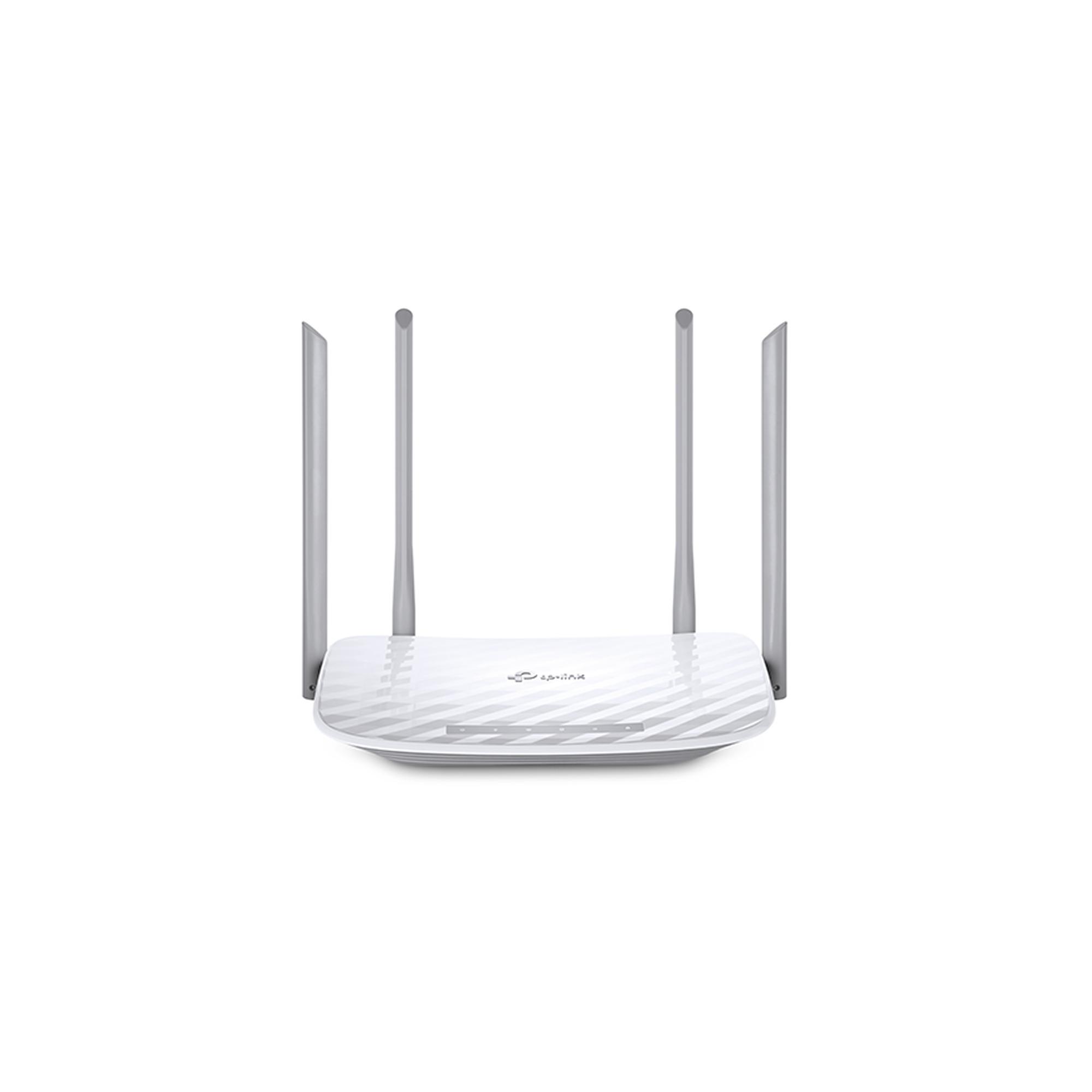 Router Inalámbrico doble banda AC, 2.4 GHz y 5 GHz Hasta 1200 Mbps, 4 antenas externas omnidireccional, 4 Puertos LAN 10/100 Mbps, 1 Puerto WAN 10/100 Mbps, Versión 4.2