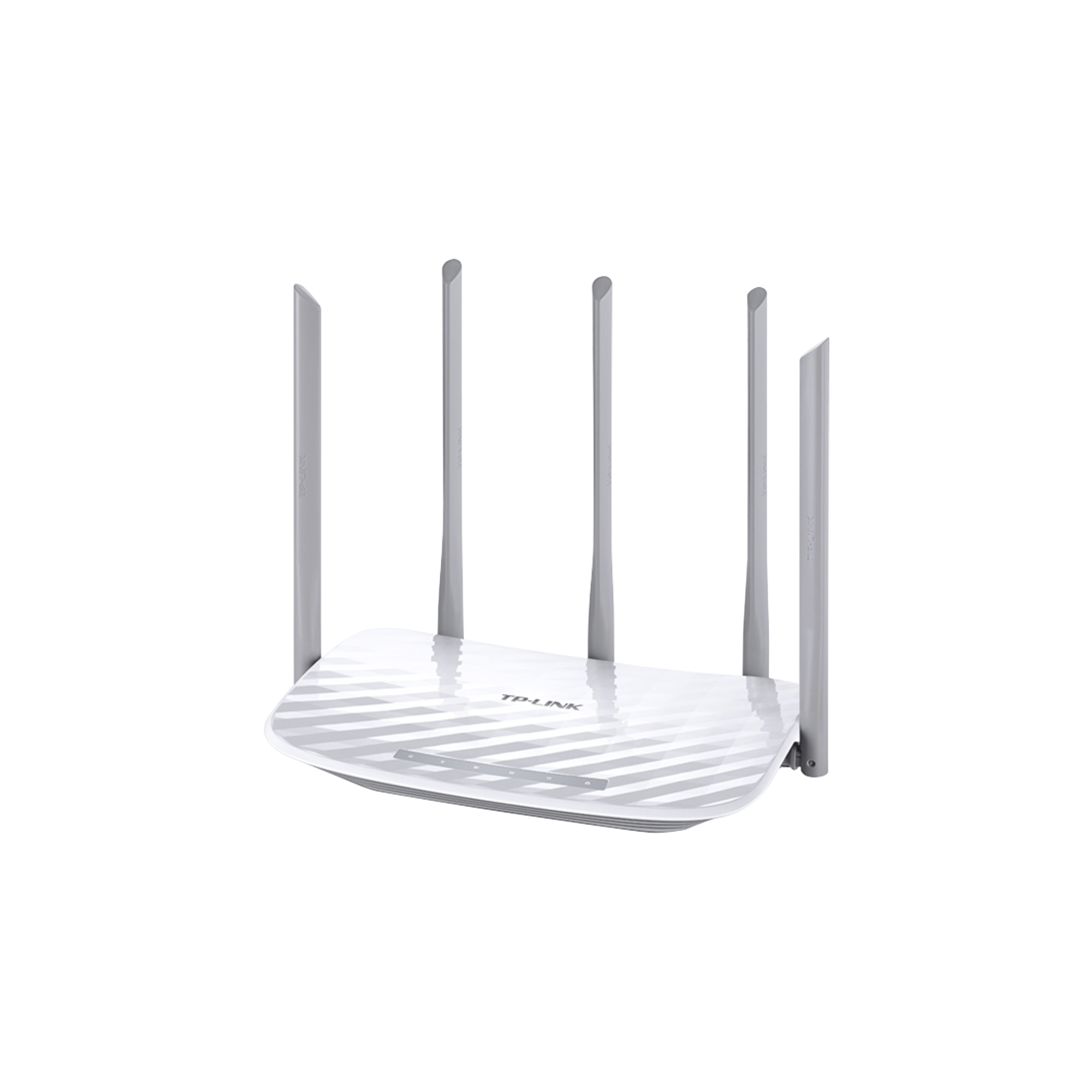 Router Inalámbrico doble banda AC, 2.4 GHz y 5 GHz Hasta 1350 Mbps, 5 antenas externas omnidireccional, 4 Puertos LAN 10/100 Mbps, 1 Puerto WAN 10/100 Mbps