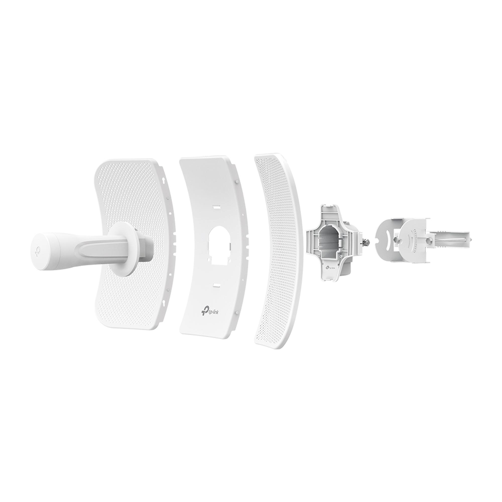 CPE de Exterior de 5 GHz a 300Mbps, Antena direccional de 23dBi, potencia de 29 dBm, PoE pasivo