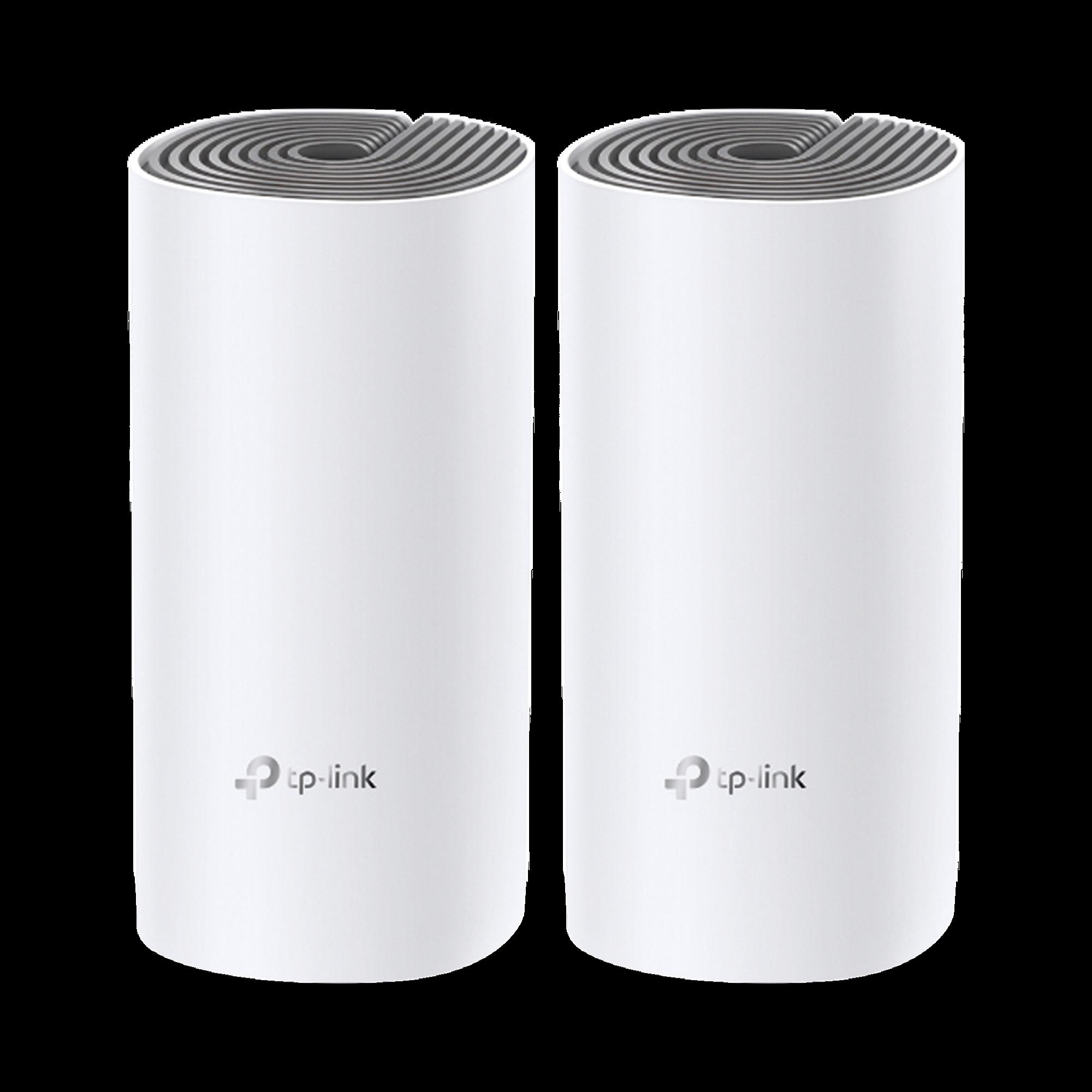 Router inalámbrico mesh para hogar, doble banda AC 1200, doble puerto 10/100 Mbps, incluye 2 equipos, compatible con amazon alexa.