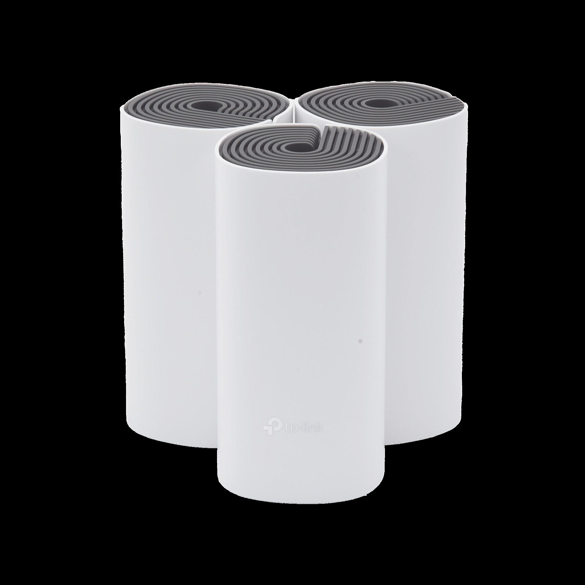 Router inalámbrico mesh para hogar, doble banda AC 1200, doble puerto 10/100 Mbps, incluye 3 equipos, compatible con amazon alexa.
