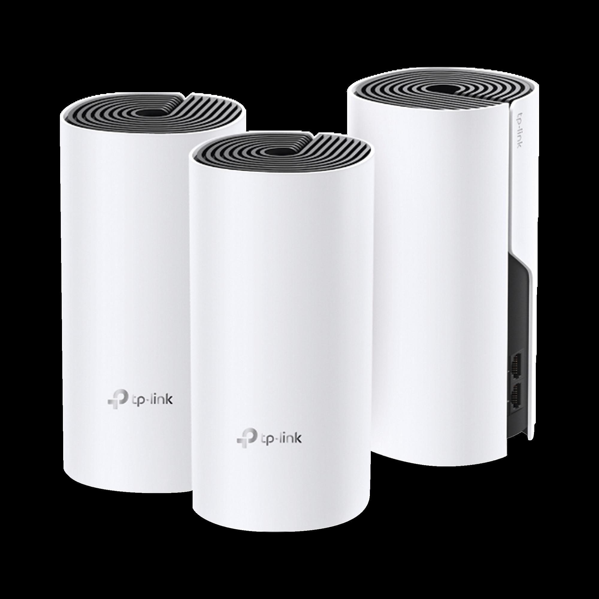 Router inalámbrico mesh para hogar, doble banda AC, doble puerto Gigabit, 2 antenas internas con seguridad.