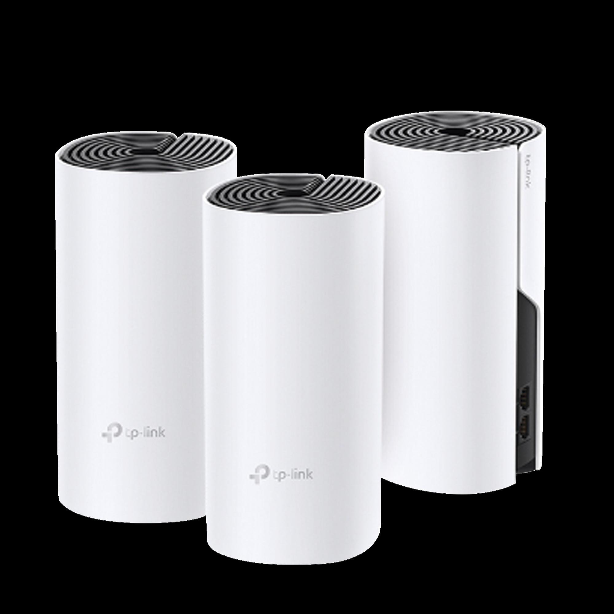 KIT de sistema inalámbrico y HomePlug AV1000, Deco P9 mesh hibrido para hogar, doble banda AC, doble puerto Gigabit, 2 antenas internas compatible con Alexa.