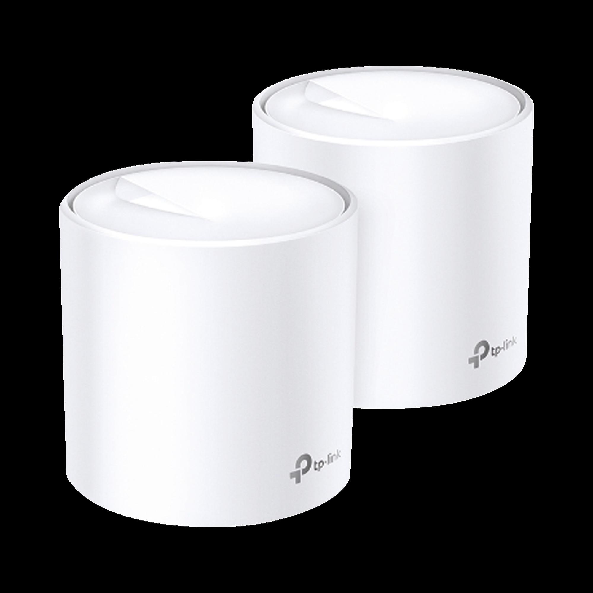 KIT de sistema inalámbrico Deco X20 mesh para hogar, doble banda Wi-Fi 6 (AX), doble puerto Gigabit, 4 antenas internas y compatible con amazon alexa