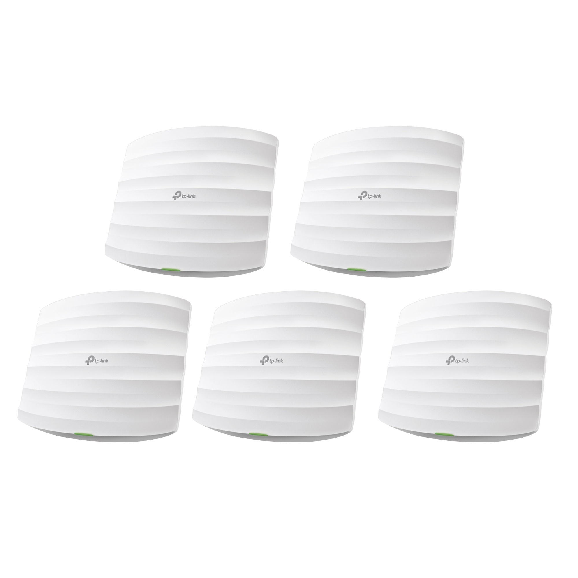 KIT de 5 Puntos de Acceso Omada, 802.11 b/g/n (2.4 GHz), hasta 300 Mbps, alimentación PoE pasivo, para montaje en techo, soporta hasta 50 clientes.