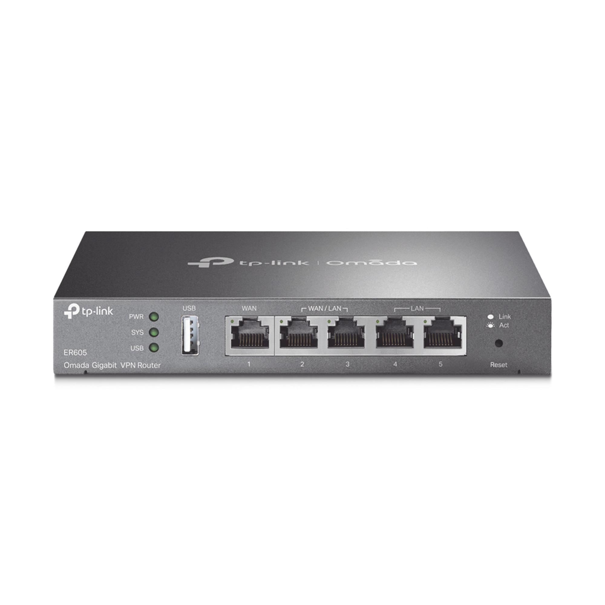 Router VPN - SDN Multi-WAN Gigabit, 1 puerto LAN Gigabit, 1 puerto WAN Gigabit, 3 puertos Auto configurables LAN/WAN, 25,000 Sesiones Concurrentes, Administración Centralizada OMADA SDN