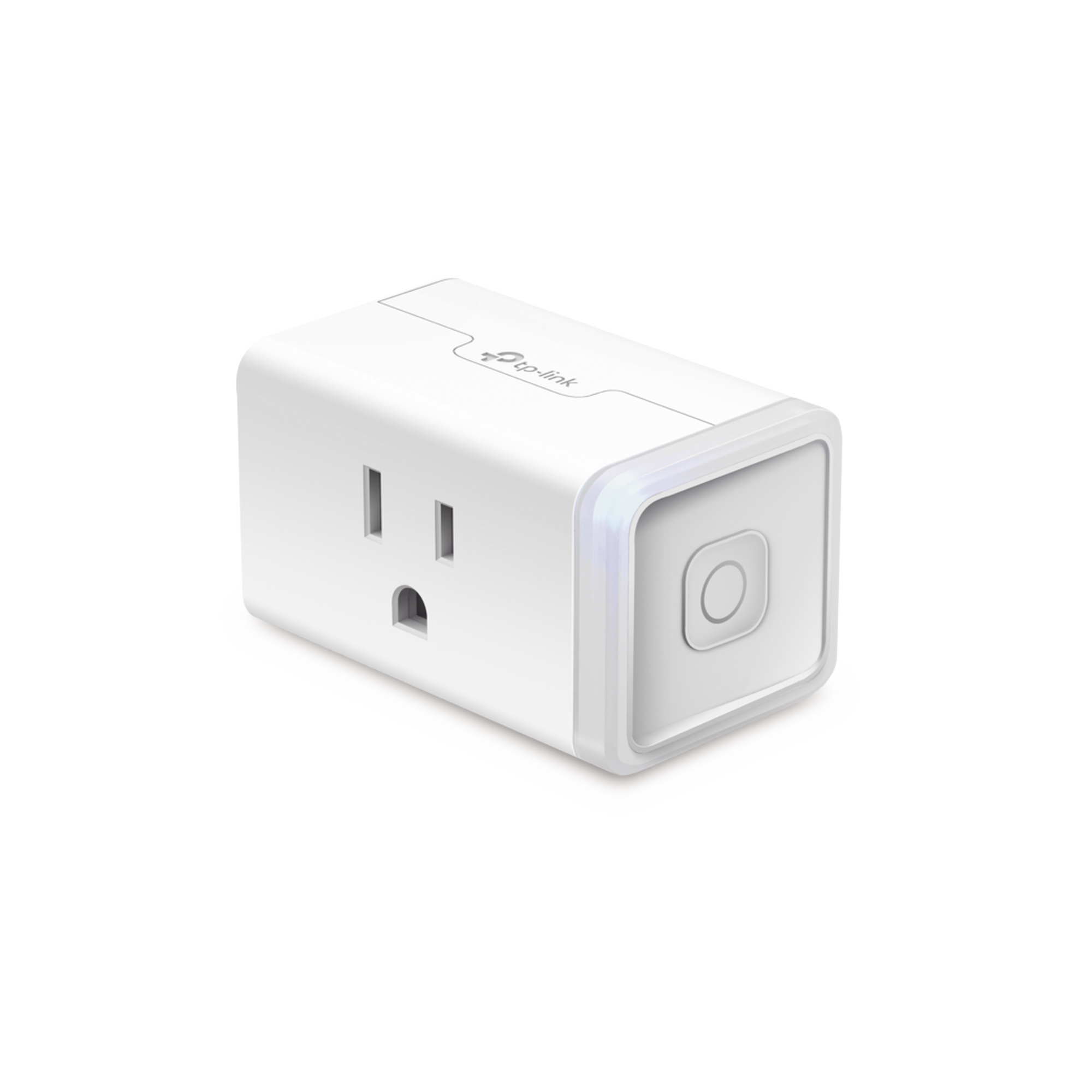 Mini tomacorriente inteligente Wi-Fi, 100 - 120V~, 50/60Hz, 15.0A, compatible con Amazon Alexa y Google Assistant, color blanco.