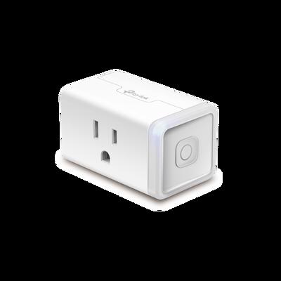 Mini tomacorriente inteligente Wi-Fi, 100 - 120V~, 50/60Hz, 15.0A, compatible con Amazon Alexa y Google Assistant, color blanco.