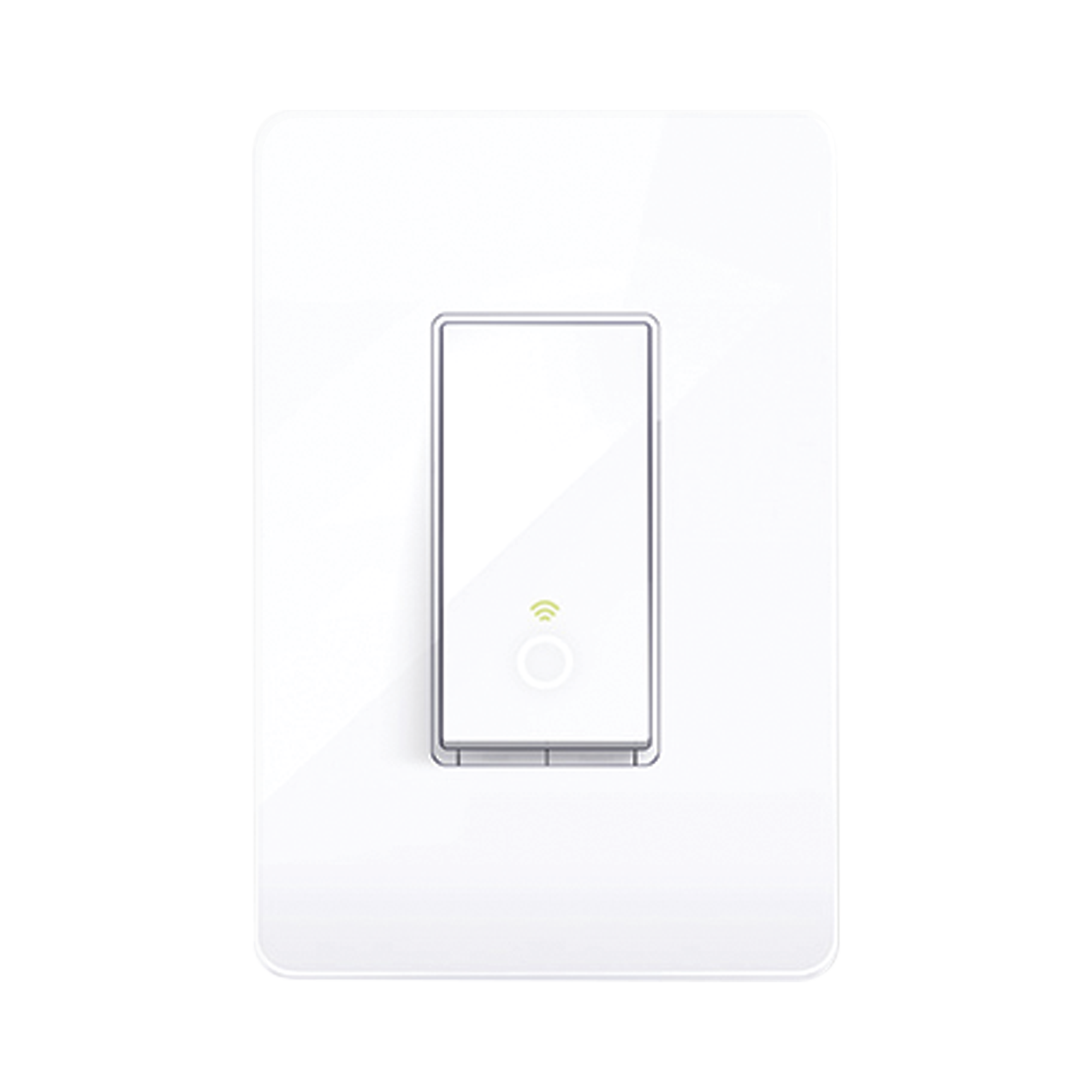 Interruptor Inteligente Wi-Fi, 100 - 120V~, 50/60Hz, 15.0A, compatible con Amazon Alexa y Google Assistant, color blanco.