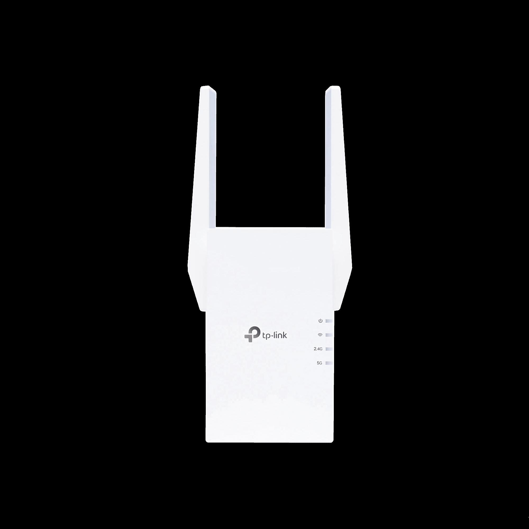 Repetidor / Extensor de Cobertura WiFi AX 1500 Mbps, doble banda 2.4 GHz y 5 GHz, con 1 puerto 10/100/1000 Mbps
