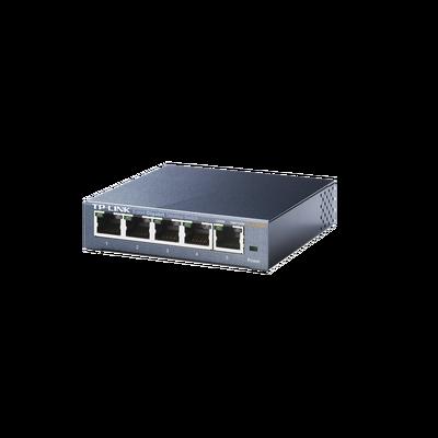 Switch Gigabit no administrable de 5 puertos 10/100/1000 Mbps