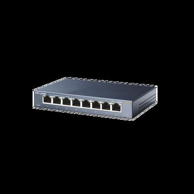 Switch Gigabit no administrable de 8 puertos 10/100/1000 Mbps