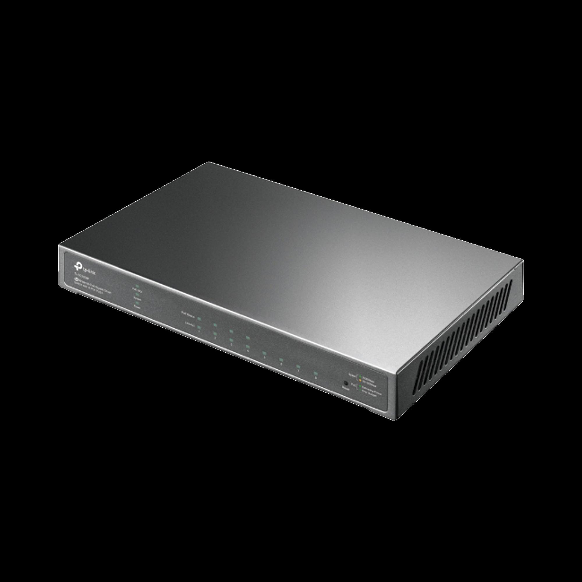 Switch PoE JetStream SDN Administrable 8 puertos 10/100/1000 Mbps, 4 puertos PoE, 62W, administración centralizada OMADA SDN