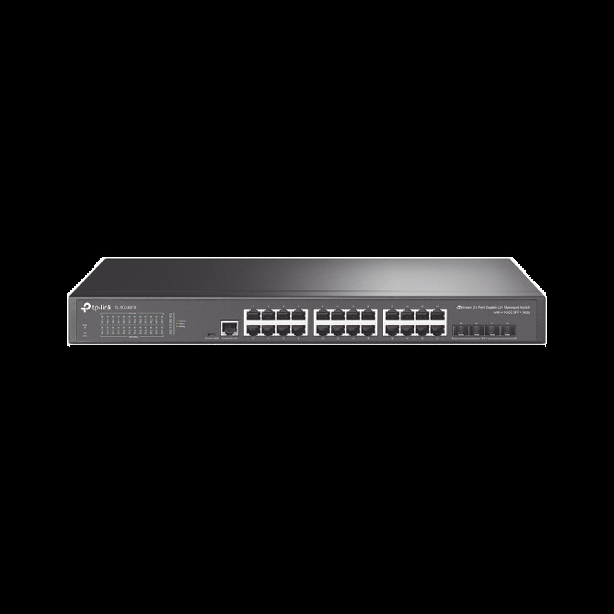 Switch JetStream SDN Administrable 24 puertos 10/100/1000 Mbps + 4 puertos SFP+, administración centralizada OMADA SDN