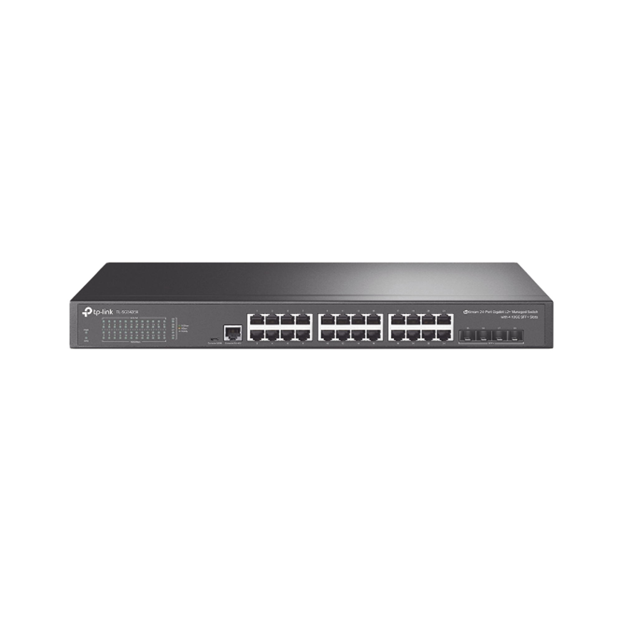 Switch JetStream SDN Administrable 24 puertos 10/100/1000 Mbps + 4 puertos SFP+, administracion centralizada OMADA SDN
