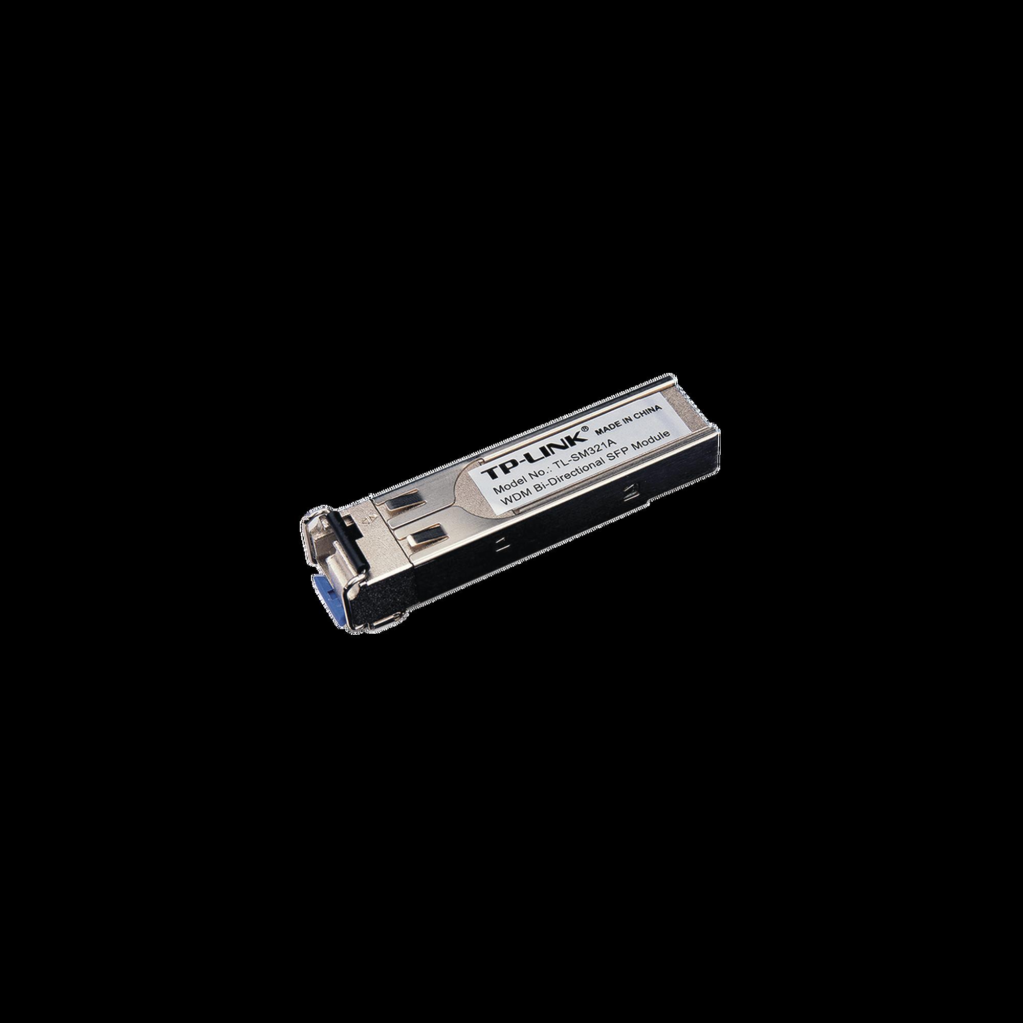 Transceptor mini-GBIC SFP Bi-Direccional Monomodo 1000X, Distancia 10 KM, conector LC (requiere TL-SM321B para enlazar)