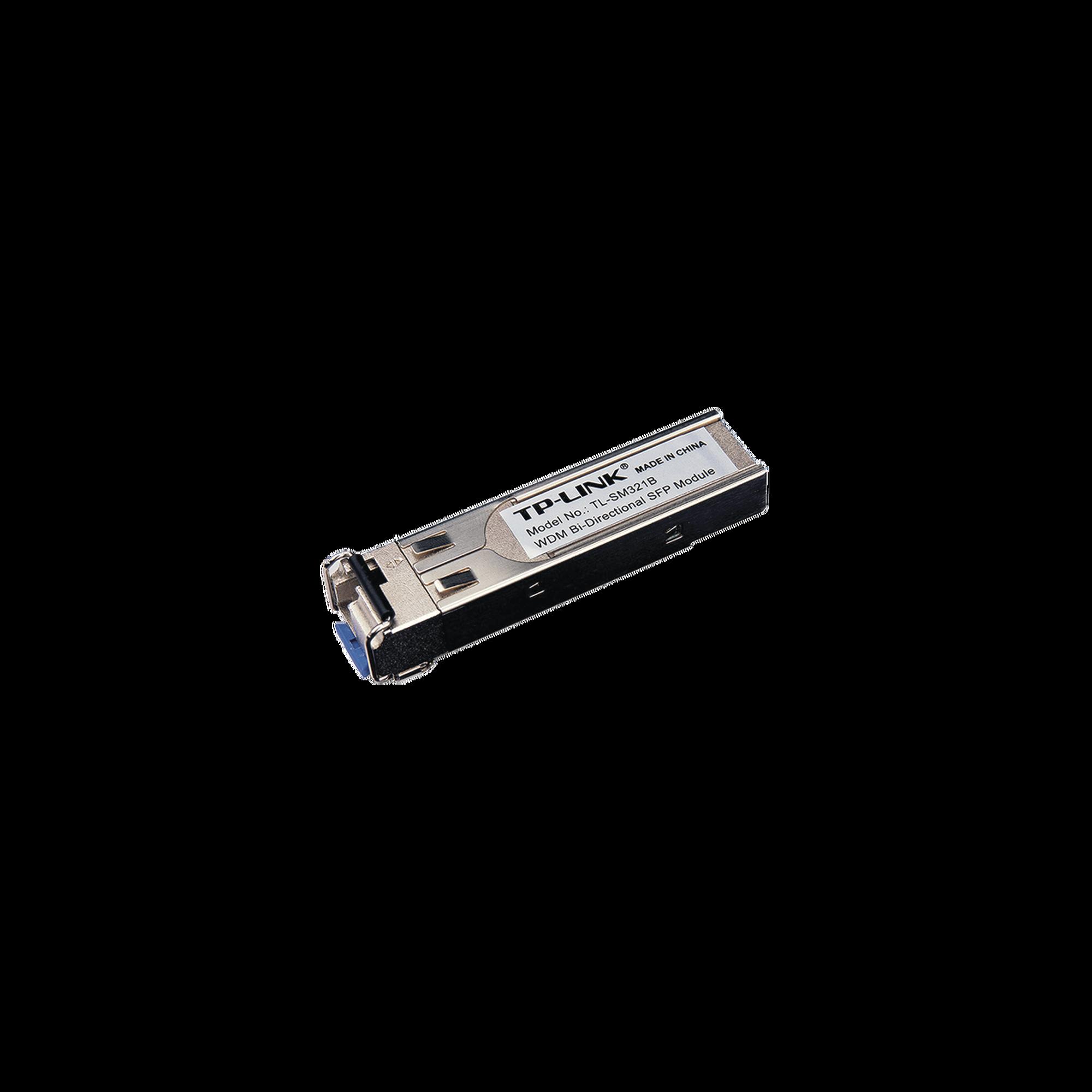 Transceptor mini-GBIC SFP Bi-Direccional Monomodo 1000X, Distancia 10 KM, conector LC (requiere TL-SM321A para enlazar)