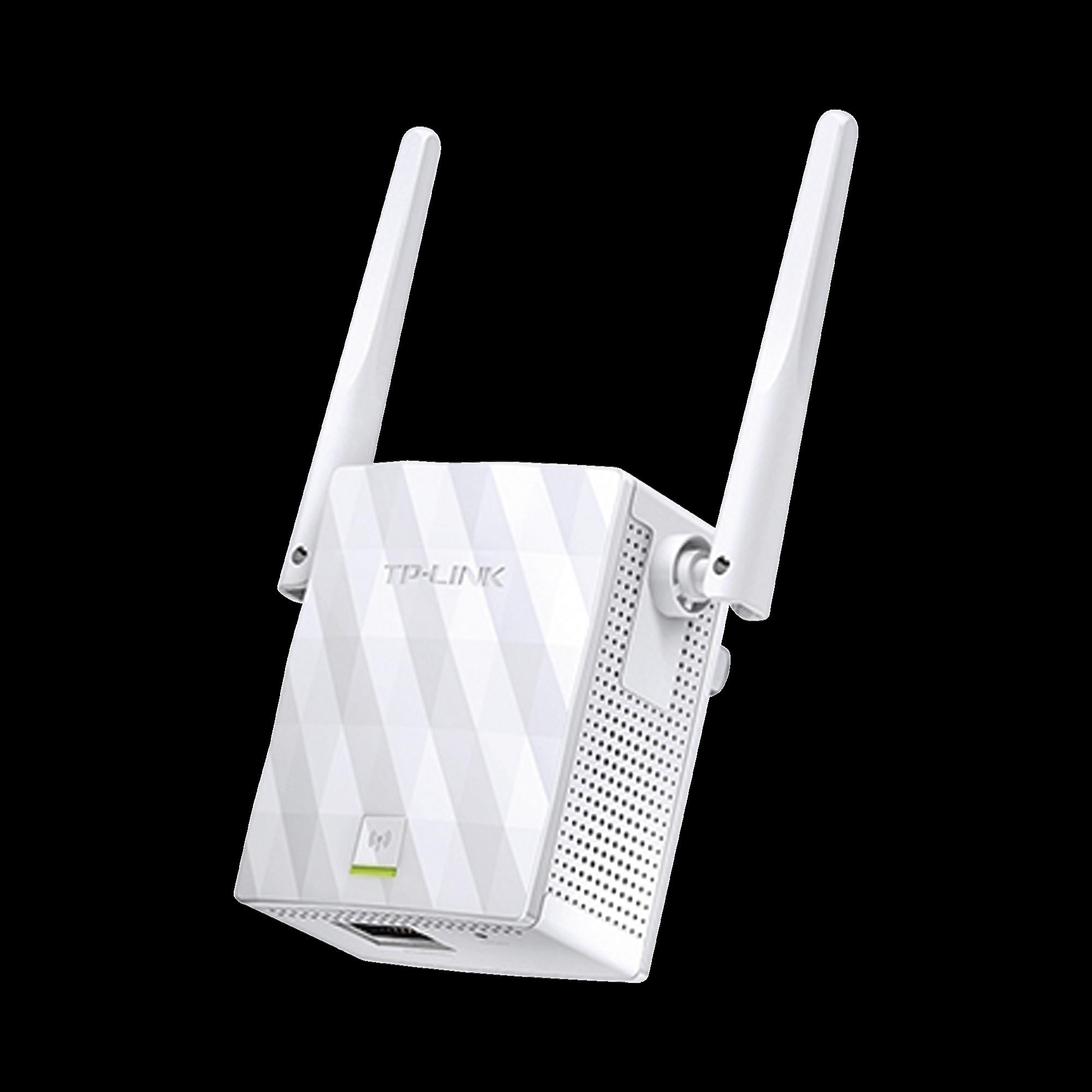Repetidor / Extensor de Cobertura WiFi N, 300 Mbps, 2.4 GHz , con 1 puerto 10/100 Mbps y 2 antenas externas