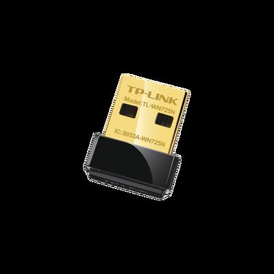 Adaptador USB  Nano inalámbrico N 150 Mbps 2.4 GHz con 1 antena interna