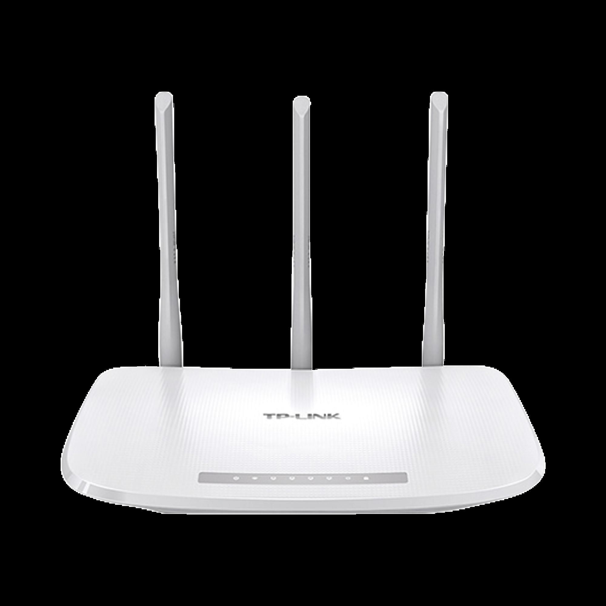 Router Inalámbrico WISP, 2.4 GHz, 300 Mbps, 3 antenas externas omnidireccional 5 dBi, 4 Puertos LAN 10/100 Mbps, 1 Puerto WAN 10/100 Mbps, IPTV, IPV6
