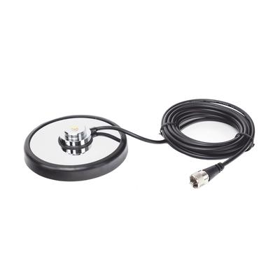 """Montaje magnetico para antenas de 3/4"""" (Nmo), 5 m de cable RG-58A/U, conector UHF (PL-259) macho, diámetro de 5"""""""