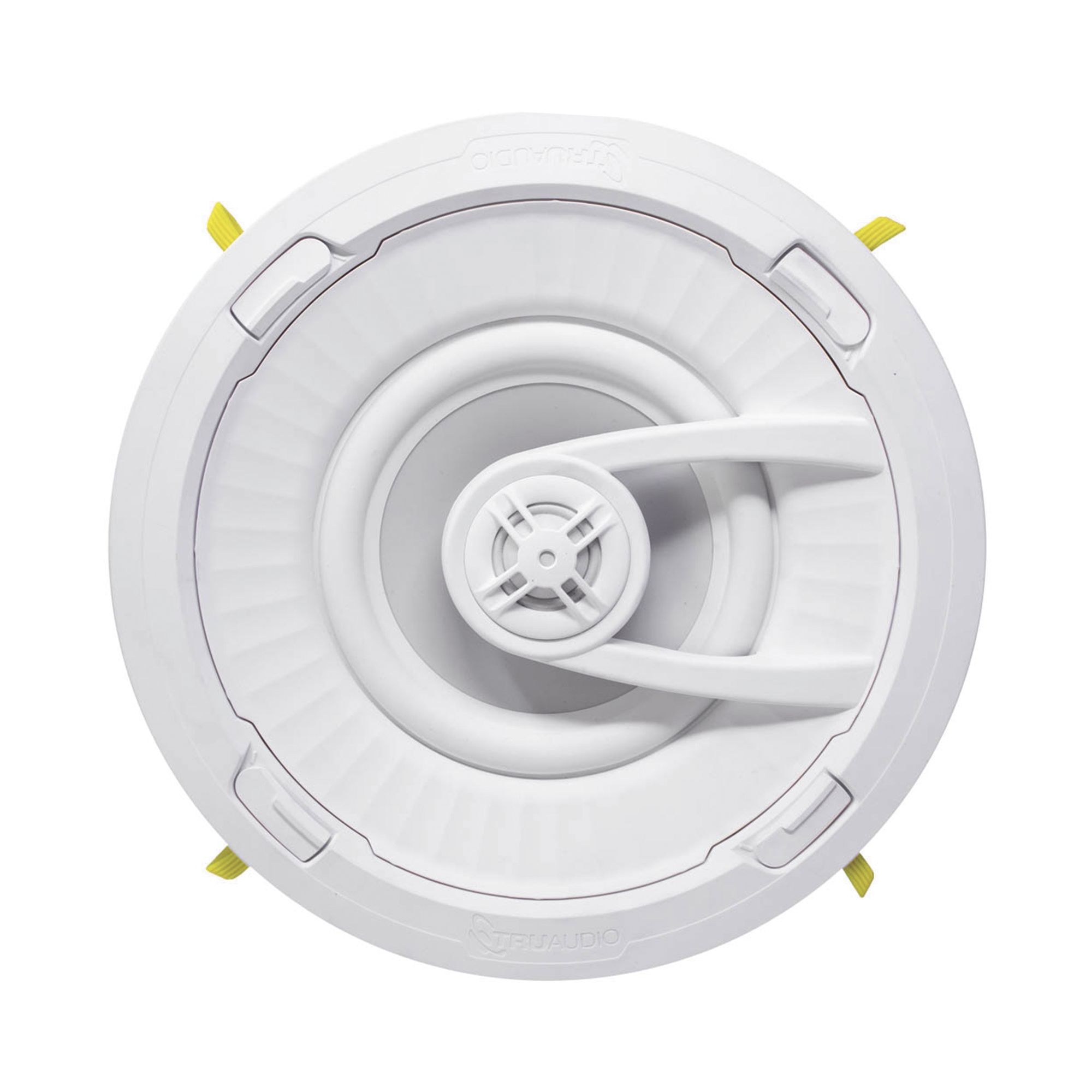 Ghost Series Altavoz de techo de 2 vías, woofer de polipropileno blanco de 6.5 in, tweeter de 1in, 5 - 100 watts, 8 Ohms