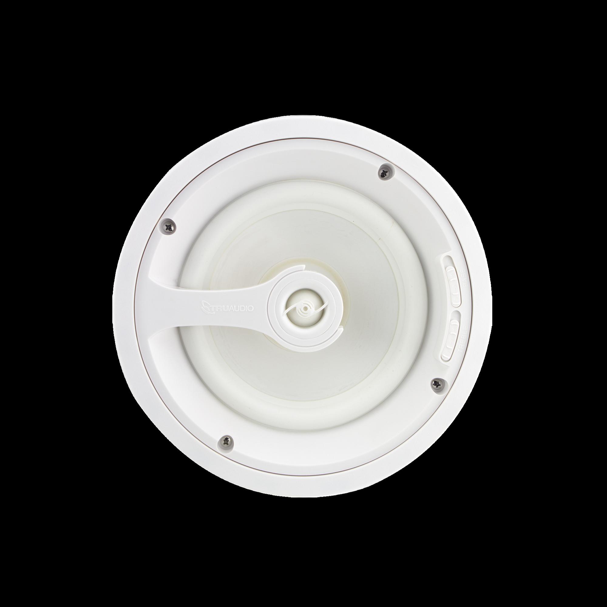 Ghost Series Altavoz de techo de 2 vias, woofer de polipropileno blanco de 8 in, tweeter de 1in, 5 - 125 watts, 8 Ohms