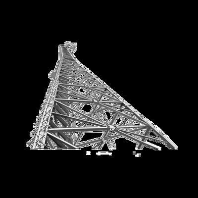 Torre Autosoportada SUPER TITAN S-1100 de 30.48 metros (100 pies) con Anclaje.