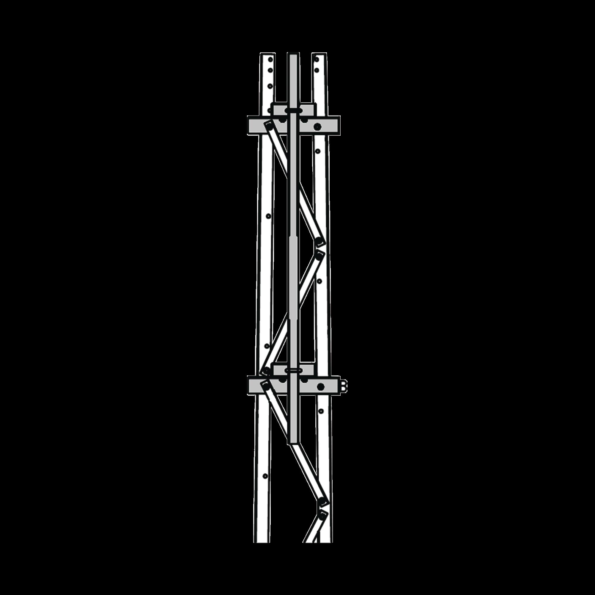 Mástil 2-3/8 x 1.8 m para Montaje en Cara de Torre Super Titan Secciones 1 a 3.