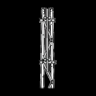 """Mástil 2-3/8"""" x 1.8 m para Montaje en Cara de Torre Super Titan Secciones 1 a 3."""