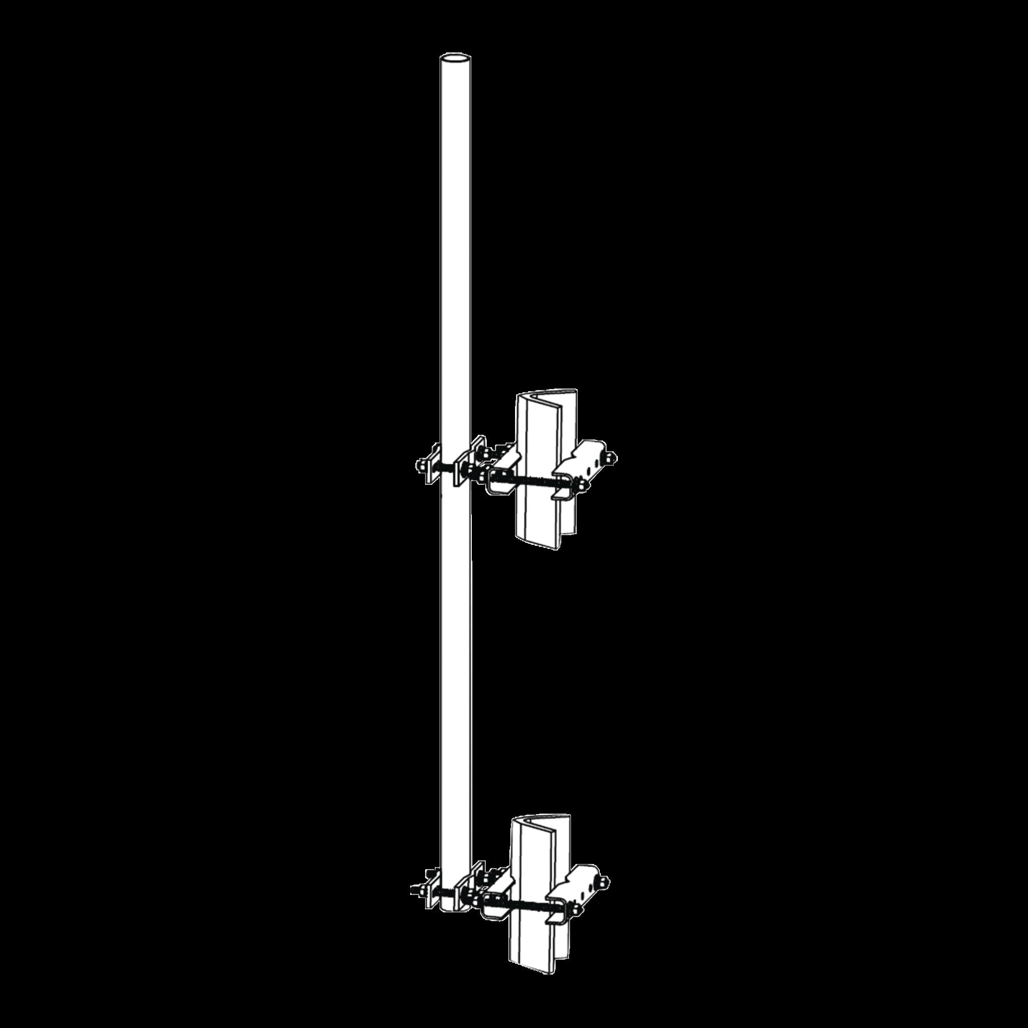 Montaje lateral con Mástil de 1.9 diam. x 6 (1.8m) longitud.