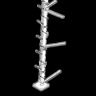 Escalera de 3 m Tipo Perno con Sección Soldada para Torres SUPER TITAN Secciones 13 a 21.