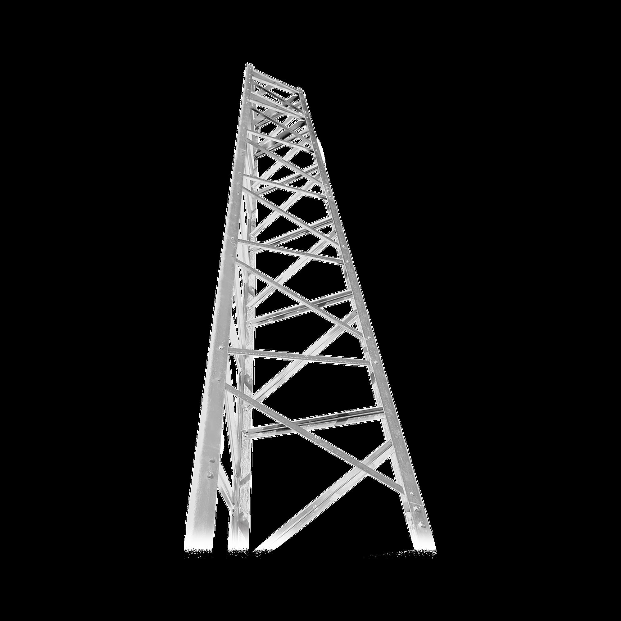 Torre Autosoportada de 64 ft (19.5m) Titan T200 Galvanizada (incluye anclaje).