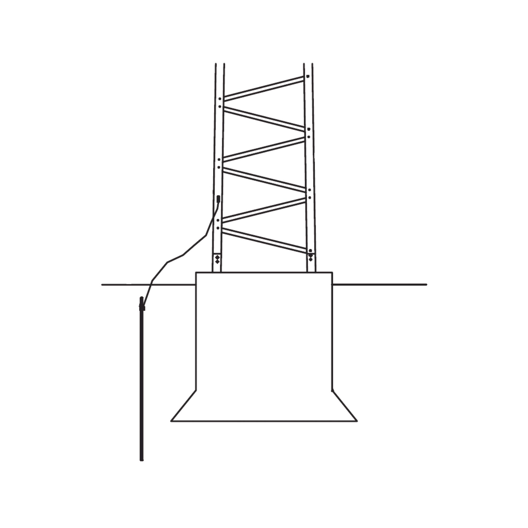 Sistema de Aterrizaje Básico para Estructura de Torre SUPER TITAN. Para Sec. 1 a 12.