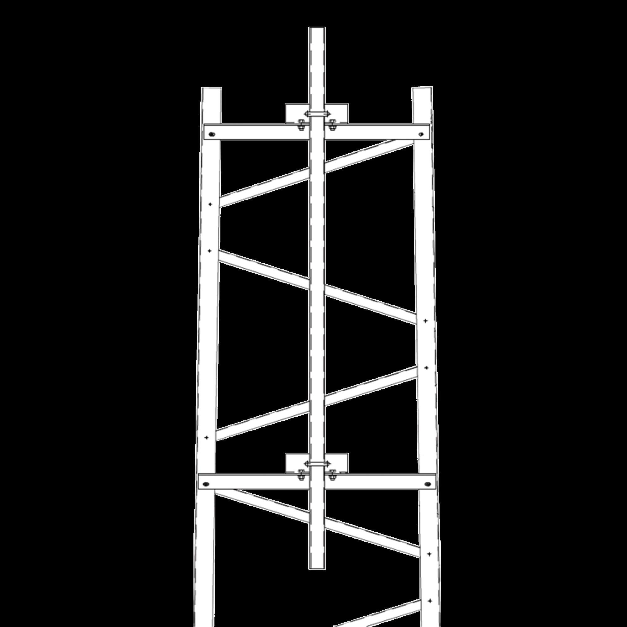 Brazo para Sección #3 Torre Titan con Herrajes y Mástil de 6 (1.8m).