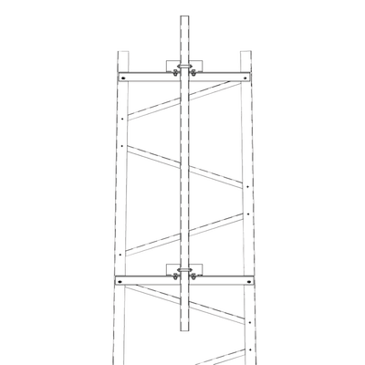 Brazo para Sección #6 Torre Titan con Herrajes y Mástil de 6' (1.8m).
