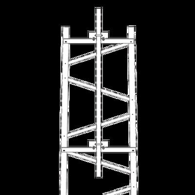 Brazo para Sección #7 Torre Titan con Herrajes y Mástil de 6' (1.8m).