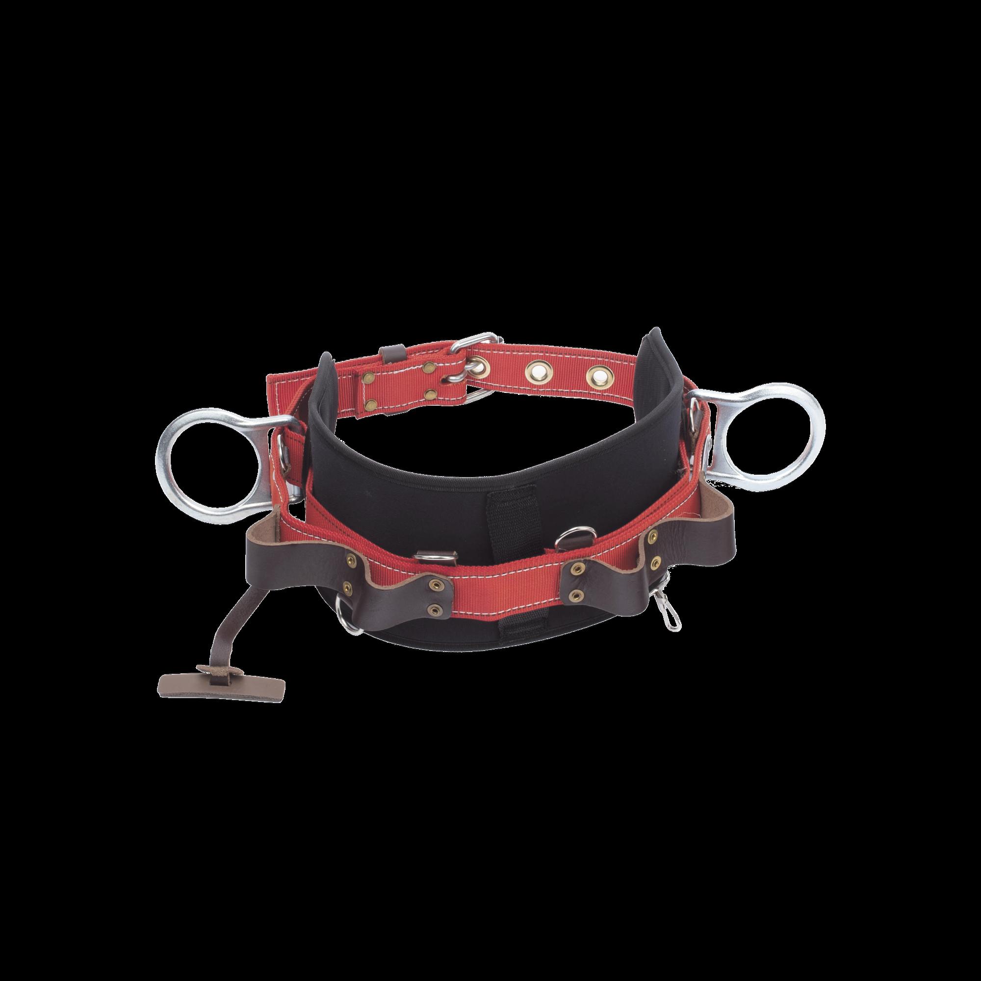 Cinturón de Liniero de Lujo, Fabricado en Poliéster, con 2 Anillos tipo D, Talla 40.