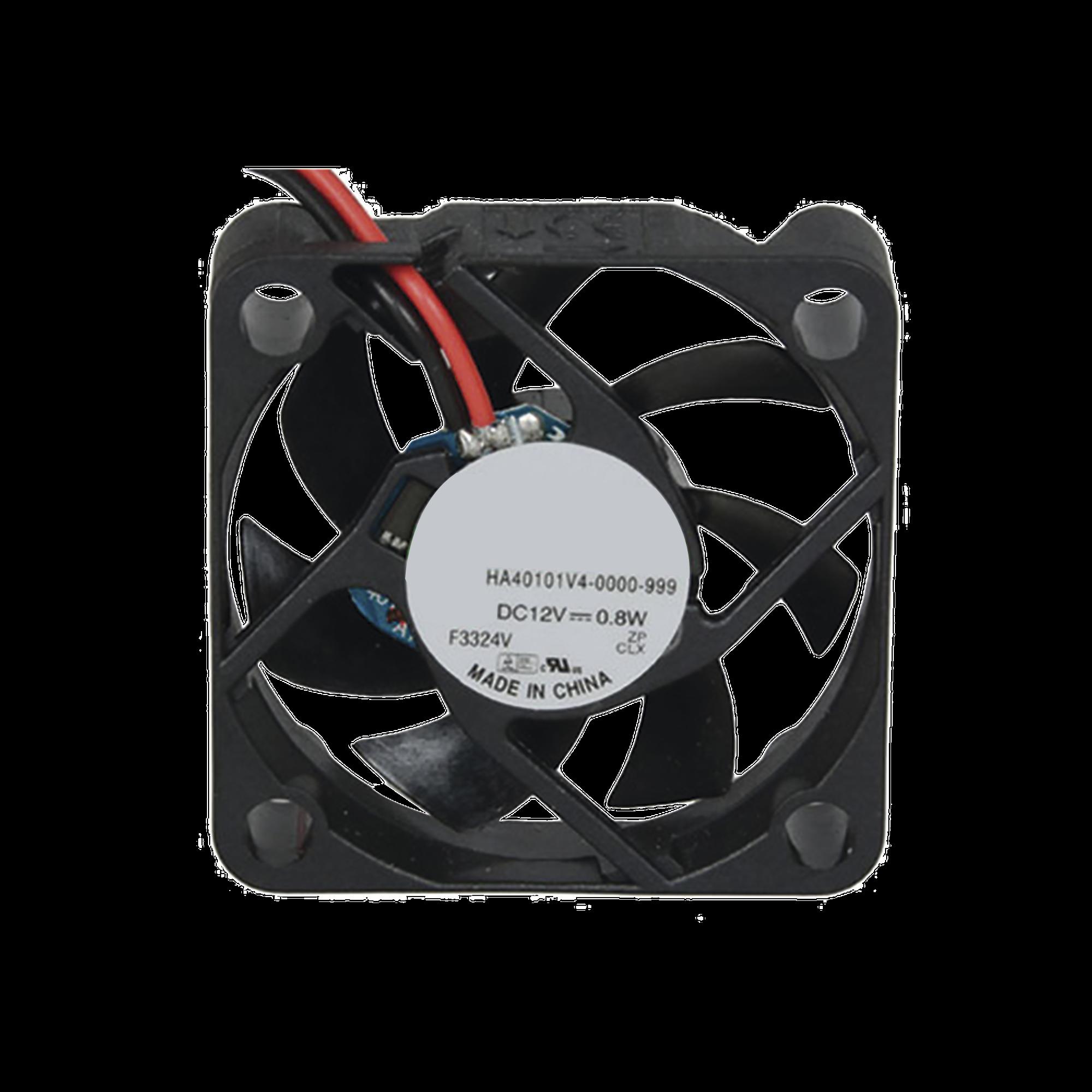 Ventilador Anticondensante Axial de 12Vcd, 40x40x10 mm, 0.8 Watt, 65 mA, flujo de aire de 5.3 CFM, sin escobillas.